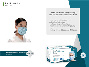 03–Ply Face Mask High Quality non–woven materials